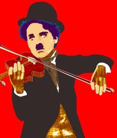 Man in red Charlie Chaplin!
