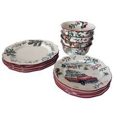 Better Homes and Gardens 12-Piece Heritage Dinnerware Set, Multicolor