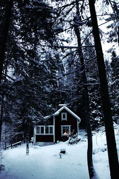bluepueblo: Snow Cabin, Finland photo via timothy Cabana, Snow Cabin, Cozy Cabin, Cozy House, Beautiful Homes, Beautiful Places, Romantic Places, Wonderful Places, Cabins And Cottages