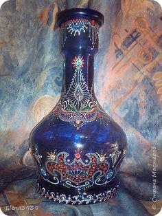 Декор предметов Роспись Точечная роспись колбы кальяна Бутылки стеклянные Краска фото 1