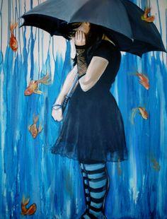 "Saatchi Online Artist: Lydia Martin; Acrylic, Painting ""Sink or Swim"""