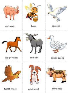 Animals Sound flashcard set