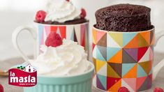 Bizcocho en Taza en 3 minutos Brownie Recipes, Dessert Recipes, Desserts, Tapas, Cooking Time, Cooking Recipes, Latin American Food, Muffins, Mini Cakes