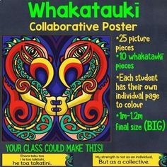Collaborative posters are FUN! This simple lesson is an inclusive, fun, community building activity. Each student is given one section of a large mosaic poster to colour in. By looking carefully at their matching coloured piece your students practice blending and mixing colours as close as they can to the original.