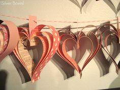 easy paper heart garland