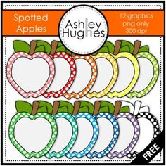 FREE Spotted Apples Clipart {A Hughes Design} Here's a set of apple graphics for creating your own resources. Classroom Labels, Classroom Themes, Classroom Organization, Classroom Clipart, Apple Classroom Decorations, Apple Clip Art, Apple Theme, Beginning Of School, Teacher Resources