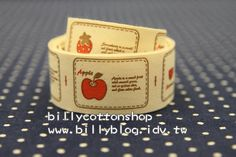 [billycottonshop] V222 - cotton tape/ sewing tape/ Ribbon - cotton - fruits [Free shipping now !!] https://www.etsy.com/listing/88997110/v222-cotton-tape-sewing-tape-ribbon?ref=shop_home_active