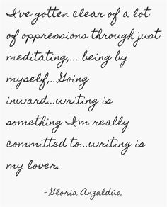 I've gotten clear of a lot of oppressions through just...