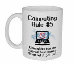 Computing Rule #5 Funny Programming Coffee or Tea Mug
