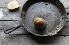 You don't need harsh chemicals to restore cast iron. Here's a simple method using simple ingredients: salt and a potato.