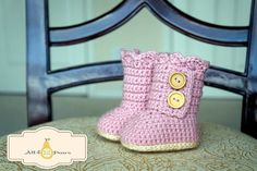 Tall Baby Boots Two Ways Crochet Pattern
