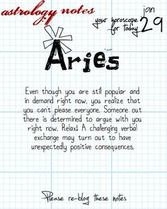 Aries Astrology Note: Want horoscopes for all signs?  Visit iFate.com Astrology today!