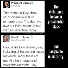 Trump still doesn't know what that means. President Obama, you will be missed. We Are The World, In This World, Es Der Clown, Social Issues, That Way, Feminism, Equality, Presidents, At Least