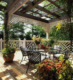 Patio garden design ideas Pergola yourself building garden furniture wrought iron