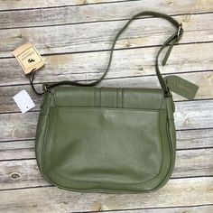 Emma Fox Harrow Leather Flap Shoulder Bag Olive Green New , Emma Fox, Buttery Biscuits, Saddle Bags, Olive Green, Shoulder Bag, Best Deals, Leather, Ebay, Molle Pouches