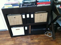 "West Elm bookshelf/console in ""chocolate"""