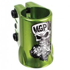 Madd Gear MGP - OVERSIZED Triple Scooter Clamp - Skull - GREEN