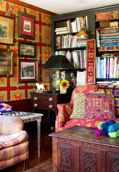 Eclectic Farm House - eclectic - home office - new york - Rikki Snyder