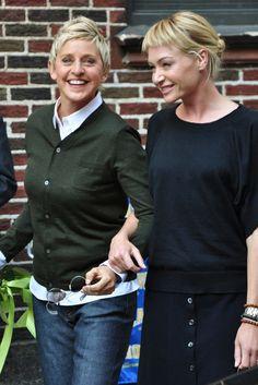 Ellen Degeneres and Portia Di Rossi - both Vegan