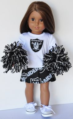 American Girl Clothes  Oakland Raiders by LoriLizGirlsandDolls, $30.00