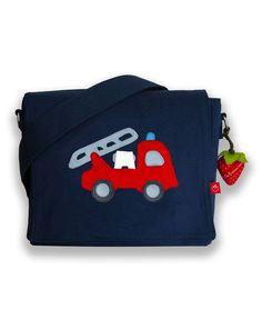 la fraise rouge ★ Kindergartentasche Feuerwehr blau