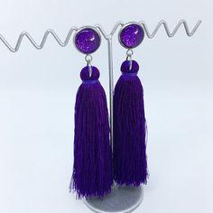 Dark Purple tassel earrings - $20AUD - allure style