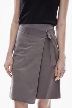 Faux Suede Wrap-Over Skirt - skirts Skirt Outfits, Dress Skirt, Tween Fashion, Fashion Outfits, Fashion Details, Fashion Design, Everyday Fashion, Casual Chic, Casual Dresses