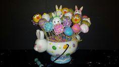 Easter planter cake pops 2