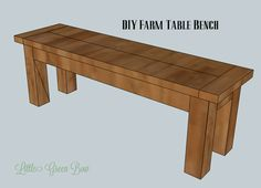 DIY Pottery Barn Inspired Dining Table Bench | Little Green Bow