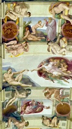 Creation of Adam, Sistine Chapel, by Michael Angelo