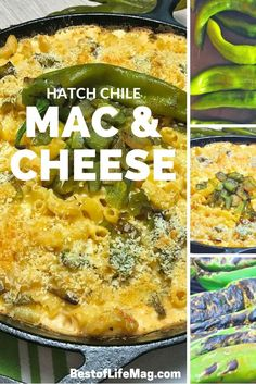 This Hatch chile mac and cheese recipe adds a subtle kick without overpowering the creamy mac and cheese that everyone loves! This Hatch chile mac and cheese recipe adds a subtle kick without overpowering the creamy mac and cheese that everyone loves! Hatch Recipe, Hatch Green Chili Recipe, Green Chili Recipes, Mexican Food Recipes, Vegetarian Recipes, Hatch Chili Mac And Cheese Recipe, Chili Mac Recipe, Drink Recipes, Macaroni Recipes