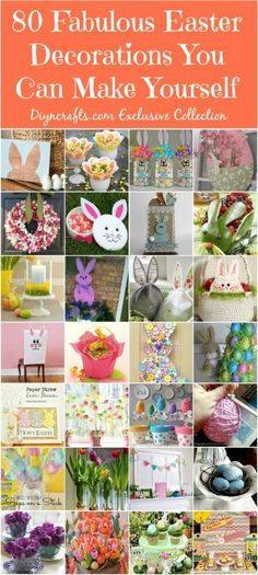 80 Fabulous Easter Decorations You Can Make Yourself - Cute and creative Easter decorating ideas! 80 Fabulous Easter Decorations You Can Make Yourself Spring Crafts, Holiday Crafts, Holiday Fun, Diy Plants, Diy Osterschmuck, Hoppy Easter, Easter Décor, Easter Ideas, Easter Food