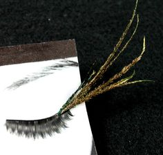 Long and Curvy Peacock Feather False Eyelashes by CatsMeow1940, $17.00