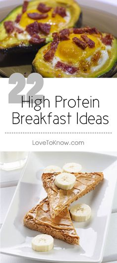 Proteins are the body's building blocks and important to cell repair. Protein is thought to keep you fuller longer and should be a part of every meal. High protein breakfast foods can be a great way to start your day. | 22 high Protein Breakfast Ideas from #LoveToKnow