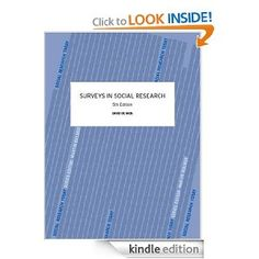 Surveys in Social Research, Fifth Edition (Social Research Today)