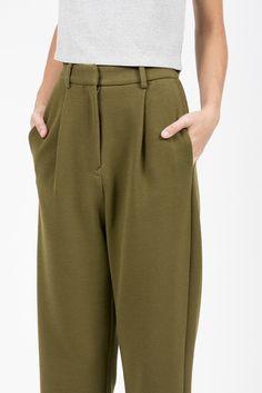 Pleat Front Twill Pants by MM6 by Maison Martin Margiela @ Kick Pleat - 8