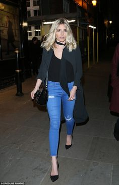 Evening all: Mollie King took time out from the recording studio to spend some quality with her family as she headed out in London's Mayfair with her mother and sister on Saturday