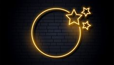Empty neon signage frame with three stars Free Vector Dark Background Wallpaper, Background Images Wallpapers, Neon Wallpaper, Neon Backgrounds, Wallpaper Backgrounds, Star Y Marco, Neon Logo, Overlays Picsart, Free Frames