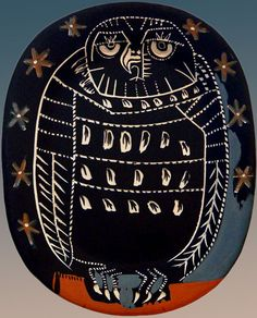 Mid-Century Madoura Owl Platter - Pablo Picasso