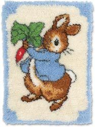 "Those Crafty Girls - Peter Rabbit Rug Latch Hook Kit-17-1/2""X19-1/2"", $85.49 (http://www.thosecraftygirls.com/peter-rabbit-rug-latch-hook-kit-17-1-2x19-1-2/)"