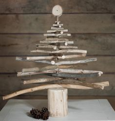 100 % wooden Christmas tree