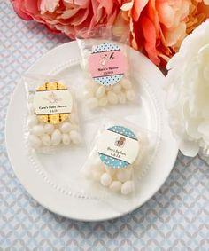 Personalized expressions Collection White Jelly Beans in Cherry fruit flavor - No one can resist a classic jelly bean and these packs will add a fun ambiance to your event tables! http://www.favorfavorbaby.com/p-9600ST_Baby.htm
