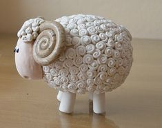 Flock of sheep- Home decor-Handmade- Made to order - Pottery Animals, Ceramic Animals, Clay Animals, Pottery Pots, Ceramic Pottery, Pottery Sculpture, Sculpture Clay, Diy Clay, Clay Crafts
