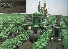 John Deere B with front mount row cultivator