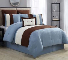I want this!!! http://www.qvc.com/VCNY-Home-Karmine-8-Piece-Queen-Comforter-Set.product.H290790.html?sc=NAVLIST