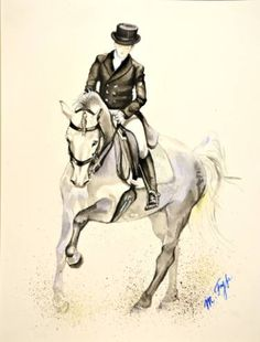 "Saatchi Art Artist Marika Fyfe; Painting, ""Dressage horse"" #art"