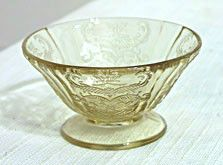 Depression Glass - Federal - Madrid - Amber Squat Sherbet - Set of 2