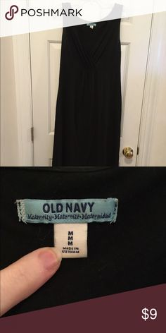 Old navy maternity maxi dress Cute black v neck old navy maxi maternity dress, good condition and gently used, ankle length. Old Navy Dresses Maxi