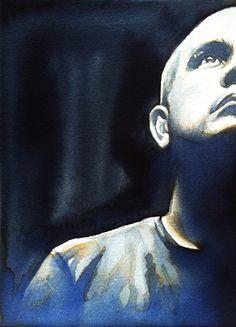 'Renato Filho'.  ink portrait - 13cm x 18cm - paper