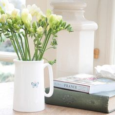 Fine China Butterfly Jug | The Covent Garden Academy of Flowers